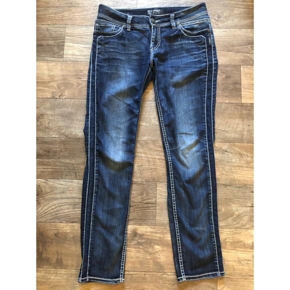 Silver Jeans Denim - Suki skinny 32/31 no flaws dark wash jean